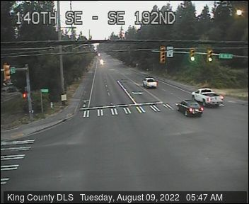 Traffic camera: 140th Ave SE at SE 192nd St