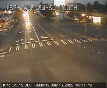Traffic camera: 16th Ave SW at SW 100th St - Northeast corner