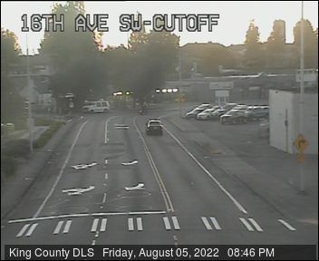 Traffic camera: 16th Ave SW at SW 100th St (southeast corner)