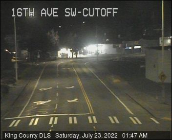 Traffic camera: 16th Ave SW at SW 100th St - Southeast corner