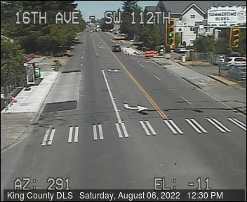 Traffic camera: 16th Ave SW at SW 112th St