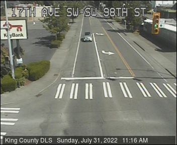 Traffic camera: 17th Ave SW at SW 98th St