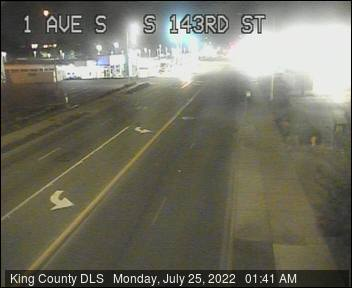 Traffic camera: 1st Ave S and S 143rd St