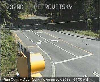 Traffic camera: SE Petrovitsky Road at SE 232nd St - Northwest corner