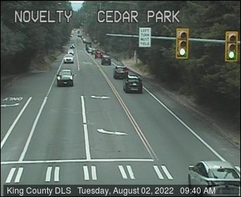 Traffic camera: Novelty Hill Road N.E. at Cedar Park Crescent N.E.