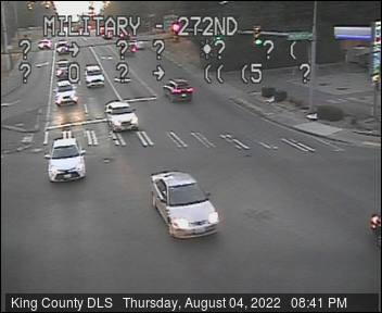 Traffic camera: Military Road S at S 272nd St - Southeast corner