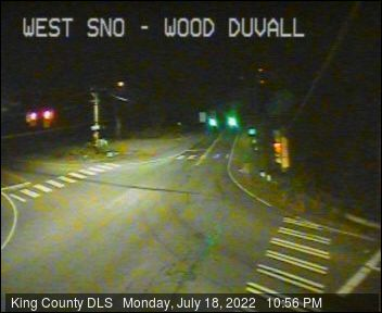 Traffic camera: Woodinville-Duvall Road and West Snoqualmie Valley Road (facing east)