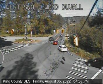 Traffic camera: NE Woodinville-Duvall Road and West Snoqualmie Valley Road (East facing)