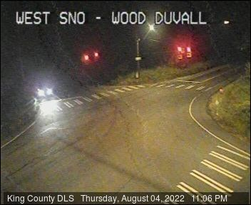 Traffic camera: W. Snoqualmie Valley Road and Woodinville-Duvall Road (northeast corner)
