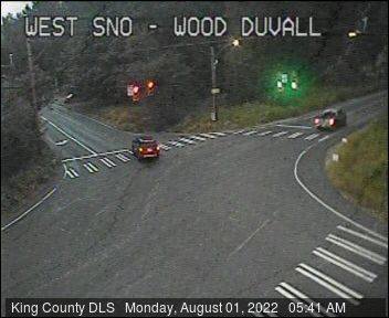 Traffic camera: W Snoqualmie Valley Road and Woodinville-Duvall Road (northeast corner)