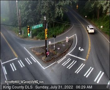Traffic camera: NE Novelty Hill Rd at West Snoqualmie Valley Road NE (facing West)