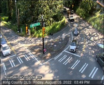 Traffic camera: Novelty Hill Rd at West Snoqualmie Valley Road N.E. (facing West)