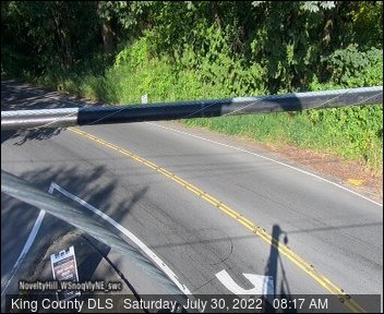 Traffic camera: Novelty Hill Rd at West Snoqualmie Valley Road N.E. (facing North)